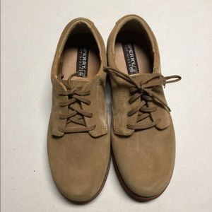 New Boys Sperry Tevin Dirty Buck Suede Shoe Us 5.5